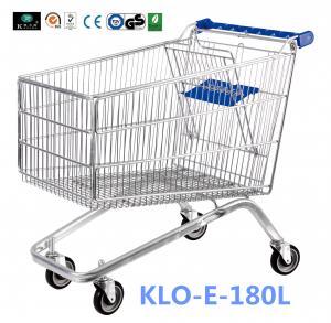 China Small 80L UK Supermarket Shopping Cart / Ladies Shopping Trolleys wholesale
