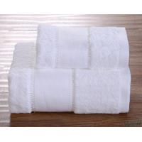 White Bath Towels Lint Free Ultra Soft  Drying fast Super Absorbent Manufactures