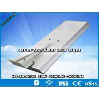 China Hitechled 25W Smart All-in-one Solar LED Street Light,Luminaria integrada de energia Solar wholesale