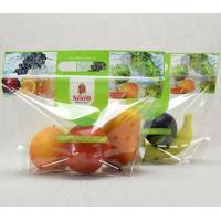 China Customized Colorful OPP Fruit Zipper Poly Bags with Air holes for Strawberry,Grape,Cherry,Tomatoes Packing wholesale