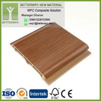China Prefabricated Colored Exterior Wood Composite Wall Building Decoration Board Panels Waterproof Fireproof WPC Wall on sale