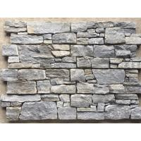 China Blue Quartzite Natural Stacked Stone Wall Cladding Back With Cement wholesale