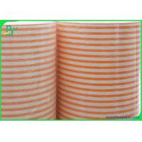 China 60gsm 120gsm Food Ink Printed Food Grade Straw Paper Roll with One Side Glazed Paper on sale