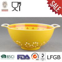 China Melamine Colander with two tone color on sale
