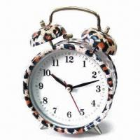 China Alarm Clock with Glass Face, Customized Logos and Dials are Accepted, Measures 13.8 x 6.2 x 9.8cm wholesale