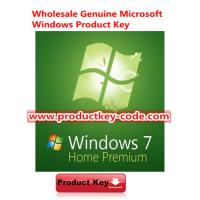 China Verified Online Windows 7 Product Key Codes, Windows 7 Home Premium SP1 OEM Download ESD version wholesale