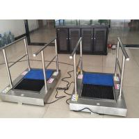 China AC220 Kitchen Shoe Sole Cleaning Machine With Handrail , Cleaning By Water To Australia wholesale