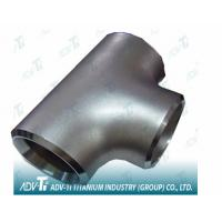 China Pure Titanium Gr2 Straight Tees Pipe Fittings ASME B16.9 T Shaped Same Size Outlets wholesale