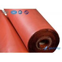 China Fireproof Twill Woven 0.42mm Silicone Coated Fiberglass Cloth wholesale