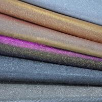 Quality Bedroom Decorative Glitter Leather Fabric PU PET Polyester Material for sale