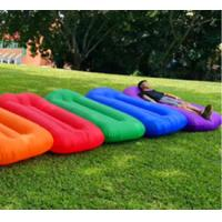 China Outdoor sleeping airbag 100%TPU coating material sleeping on mattress inflatable lounger airbag sofa foldable airbag wholesale