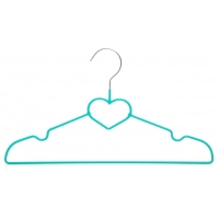 China Lovely Heart-Shaped Signature Light Weight Ultra Slim Wire Hangers wholesale