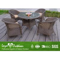 China Durable 5 Piece Patio Set Outdoor Dining Furniture With Flame Retardant Material wholesale