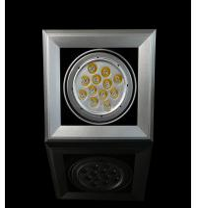 China 15W AC100 - 240V / 50 - 60Hz 970 - 1100lm Square Aluminum Alloy LED Bean Lamp wholesale