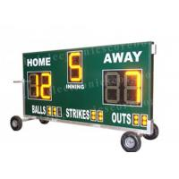 China 20'' 500mm Height Portable Baseball Scoreboard With Wheel Moving Stand on sale
