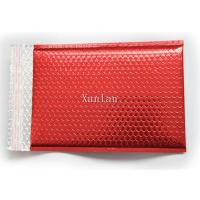 China Promotional Holographic MetallicBubbleMailers Copperplate Printing Red on sale