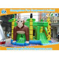 China Jungle Safari Inflatable Bouncy Castle JB Games 0.55mm PVC Material on sale