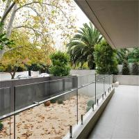 China Best Price Balcony Frameless Glass Balustrade with handrail on sale