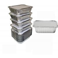 China 8011 Disposable Aluminium Foil Trays , Disposable Microwavable Foil Containers wholesale