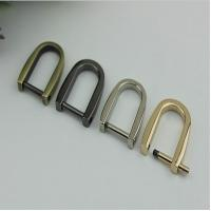 China Simple design various colors removeble zinc alloy 15mm D ring strap metal buckles for handbag wholesale