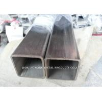 China Series 202 Stainless Steel Square Pipe / Square Steel Tubing Logo Print Available wholesale