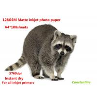 China 128gsm Matte printing paper for all inkjet printers wholesale