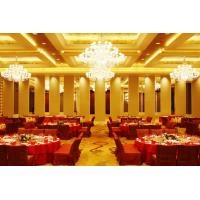 China Leather Acoustic Panel Finished Folding Wooden Partition Wall For Artgallery wholesale