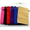 China Sew Small Velvet Drawstring Bag in Black , Patterned Drawstring Bags wholesale