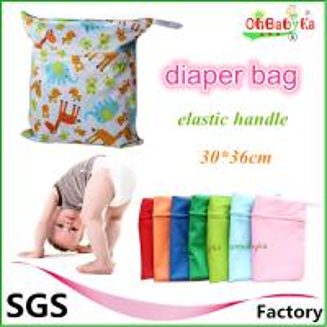 China Ohbabyka Modern Waterproof Double Zipper Snap Handle Wet Laundry Bags wholesale