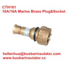 China 10A/16A marine brass plug&socket CTH101 high current brass electrical plug in bulk wholesale
