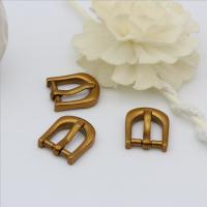 China OEB Antique Gold Factory Custom Zinc Alloy 14.3 MM Metal Belt Pin Buckle wholesale