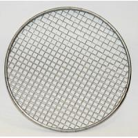 China 50 100 Micron Rimmed Stainless Steel Filter Mesh Disc Round Hole Shape Plain Weave on sale