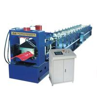 China Colour Sheet Big Round Ridge Capping Cold Roll Forming Machine Panasonic PLC Control High Speed wholesale