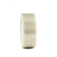 China Strong and white Fiberglass self adhesive mesh tape with PET film used for packing on sale