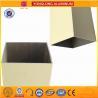 China Rectangle Powder Coated Aluminium Extrusions / 6063 6063A Aluminum Window Frame Profile wholesale