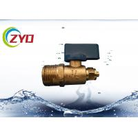 China Mini Brass Water Shut Off Valve , Copper Ball Valve For Water Air / Gas wholesale