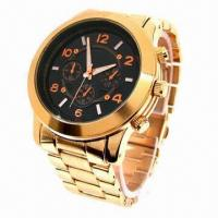 China Metal Man's Watch with IPG Plating, Alloy Case and Strap, Hiphop Style Fashionable on USA wholesale