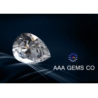 China Forever Brilliant Colorless Moissanite Pear Anti High Temperature wholesale