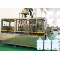China 13KW 5 Gallon Water Bottle Filling Machine With Barrel Rinser For Pure Water wholesale