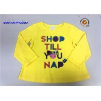 China Customized Design T-Shirt Screen Print Long Sleeve 100% Cotton Baby Girl T-Shirt wholesale