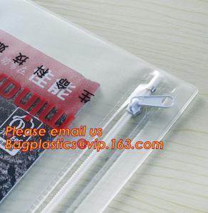 China Office stationery waterproof document slider pvc packing bag,Custom waterproof file bag office supplies bag pvc plastic on sale