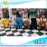 China Hansel   best selling hot electric stuffed animals adults can ride and plush iron frame battery amusement ride wholesale