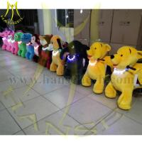 China Hansel 2016 high quality 4 Wheels Electric Scooter Children Walking Animal Toy Ride On Furry Animal on sale