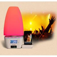 China bedside iphone docking station with speakers and alarm clock delux mood light wholesale