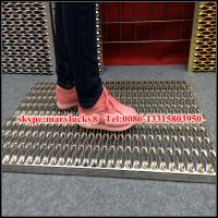 China fish eye hole Perforated anti-skid plate/Crocodile perforated plate/non skid plate on sale
