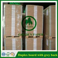 China 180gsm-450gsm Duplex board with grey back and white back in roll and sheet wholesale