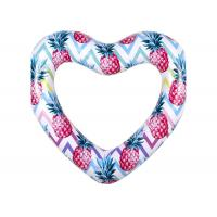 Buy cheap Colorful Durable Thick PVC Inflatable Swim Ring / Heart Pool Tube Floats from wholesalers