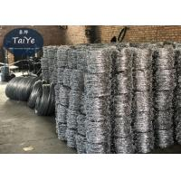 China Electro Galvanized Razor Blade Barbed Wire Traditional Twisted BWG12x12 on sale