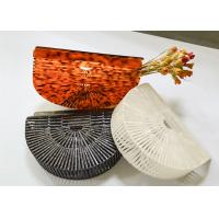 China Ladies Dinner Party Evening Pouch Bag Handbag Fashionable Acrylic And Bamboo on sale