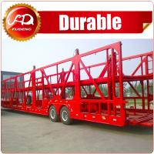 China 2axle heavy duty Hydraulic Car/ Vehicle folding car trailer for sale on sale